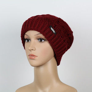 Beanie-Fashion-bordeaux [SBKN/M5-25]