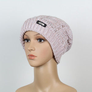 Beanie-Fashion-rose'-wollweiß meliert [SBKN/M5-22]